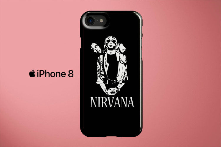 Nirvana Black And White Apple iPhone 8 Cover Case