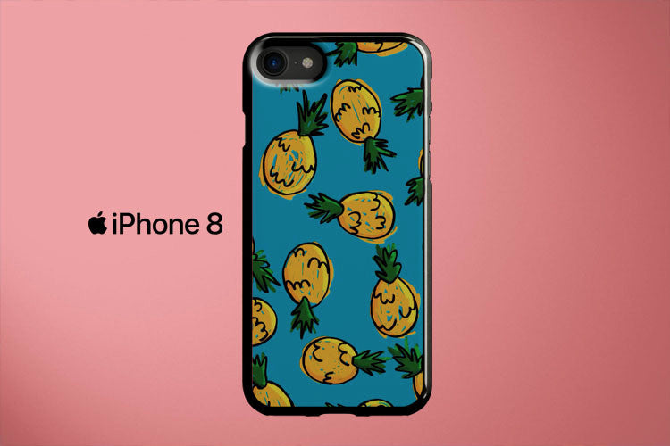 Pineapple Pattern Apple iPhone 8 Cover Case