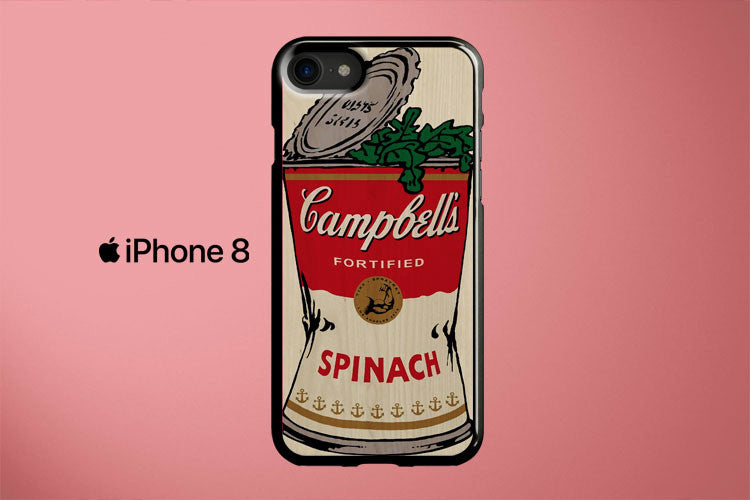Popeye Campbell s Spinach Apple iPhone 8 Cover Case