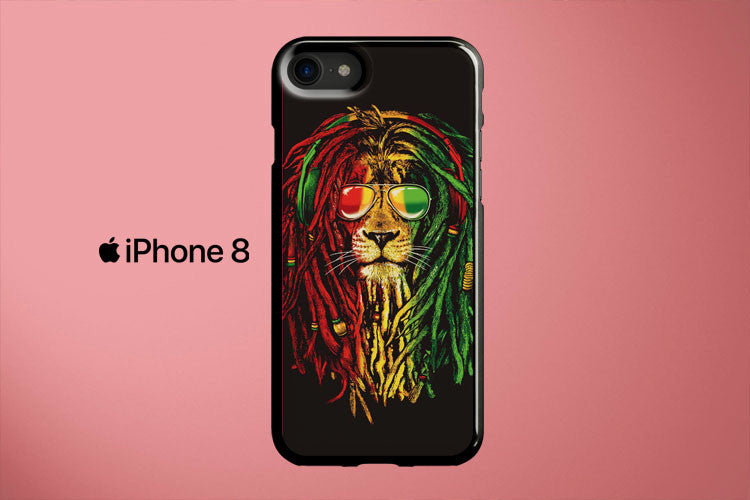 Rasta Vibe Lion Apple iPhone 8 Cover Case
