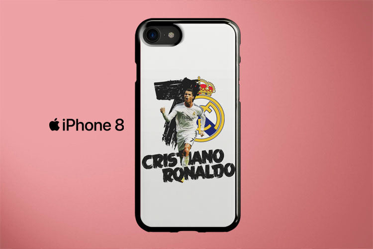 Real Madrid Christiano Ronaldo Apple iPhone 8 Cover Case