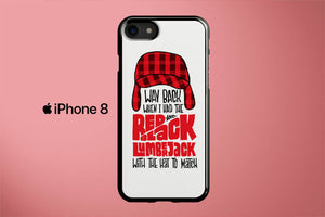 Red And Black Lumberjack Biggie Apple iPhone 8 Cover Case