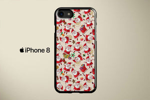 Santa Clause Pattern Apple iPhone 8 Cover Case