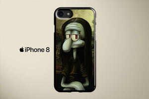 Squidward Mona Lisa Apple iPhone 8 Cover Case