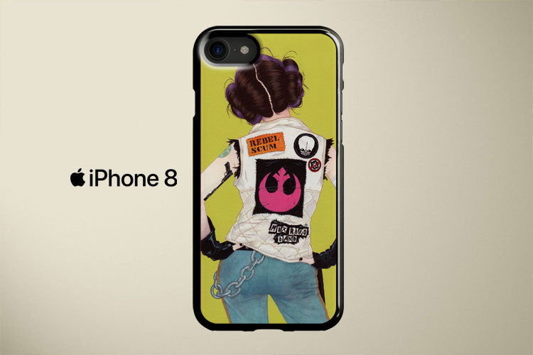 Star Wars Rebel Rebel Princess Leia Apple iPhone 8 Cover Case