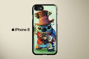Stitch As The Mad Hatter Apple iPhone 8 Cover Case