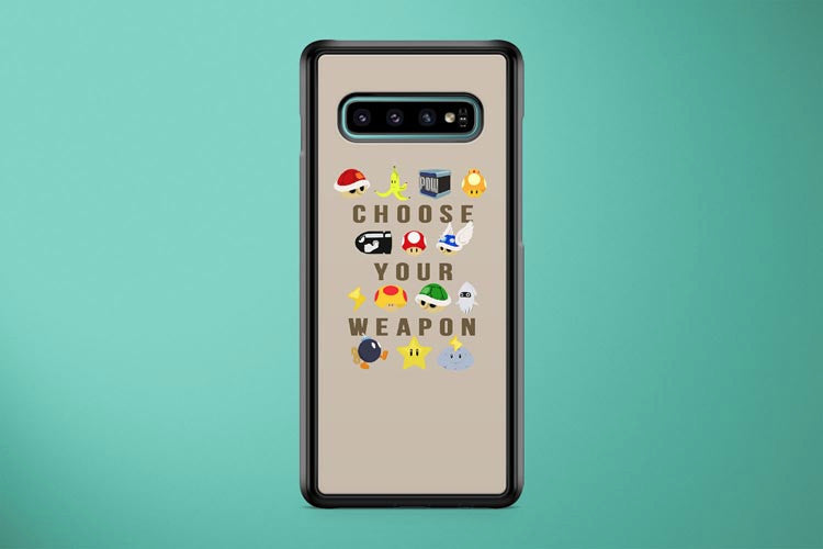 Super Mario Choose Your Weapon Samsung Galaxy S10 Plus Cover Case