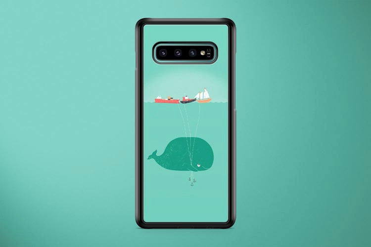 Whale With Ship Balloons Samsung Galaxy S10 Plus Cover Case