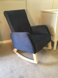 Naptime Rocker with Velvet Upholstery