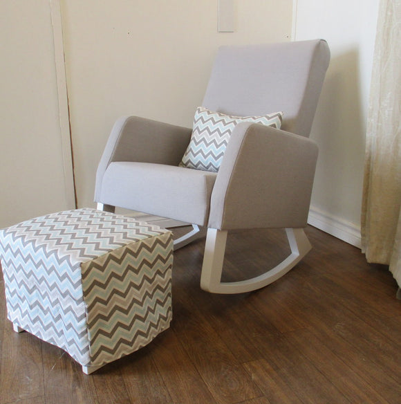 Naptime Rocker and Ottoman Set with Slipcovered Accessories