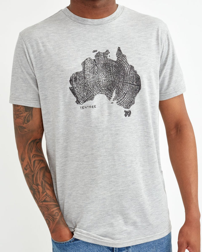 Image of product: Australia Woodgrain T-Shirt für Herren