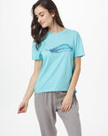 Image of product: Lockeres Featherwave T-Shirt für Damen