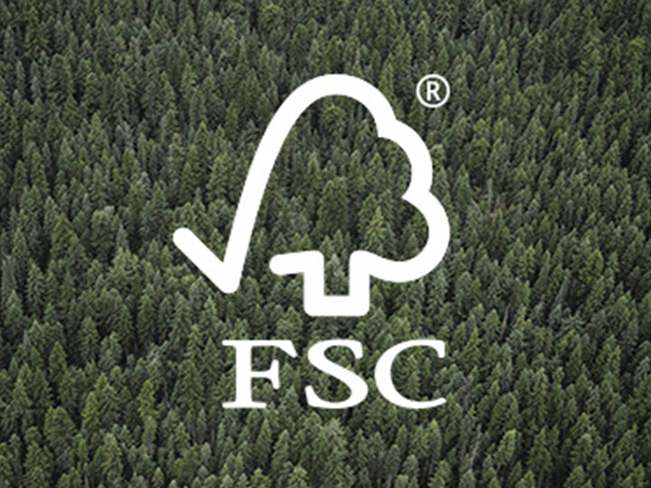 Forest Stewardship Council certified logo.