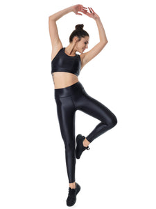 DAZZLE BLACK SET LONG (TOP & LEGGINGS)