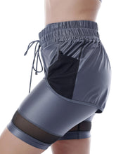 Load image into Gallery viewer, DAZZLE BIKER SHORT WITH MESH DETAIL - MOONLIGHT