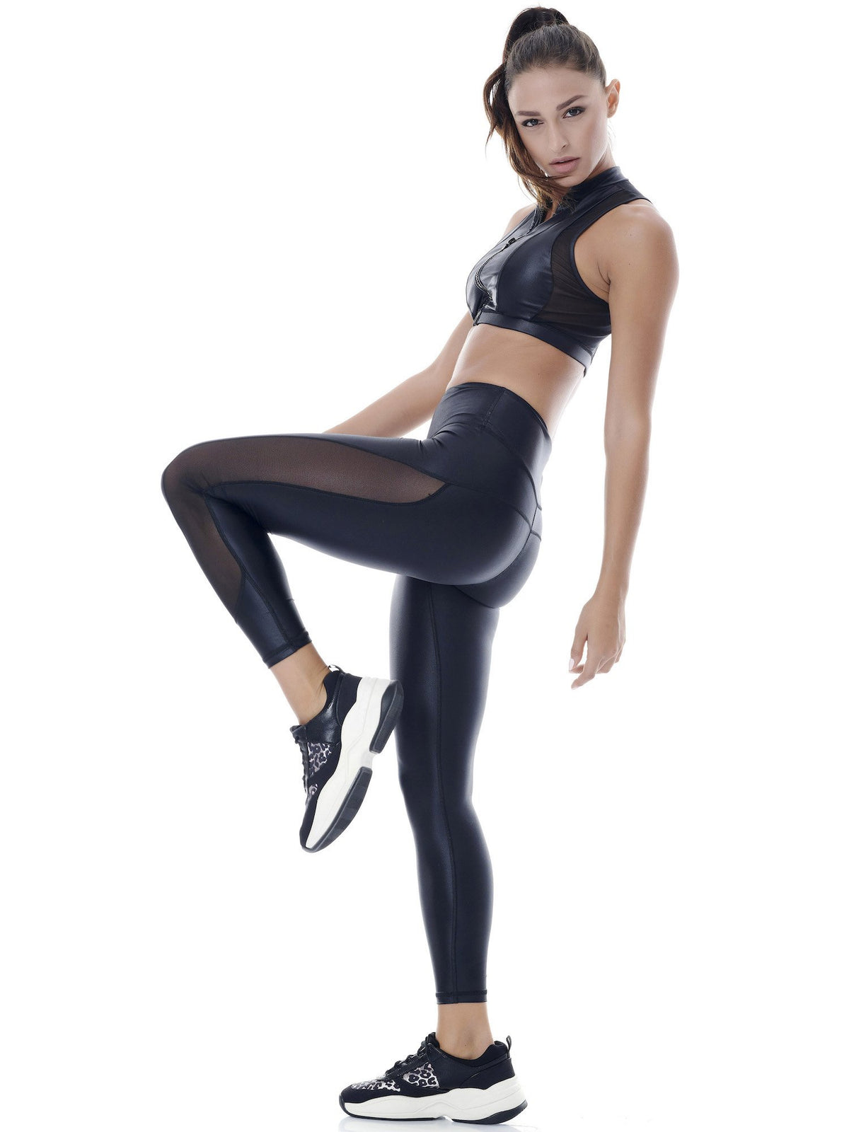 DAZZLE TWICE MESH LEGGINGS (B/B)