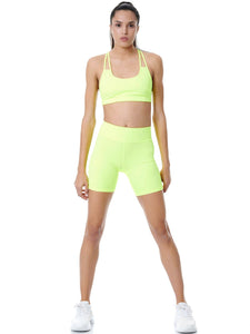 BAYA NEON YELLOW SET - BIKER