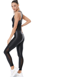 DAZZLE HIGH POWER JUMPSUIT - BLACK