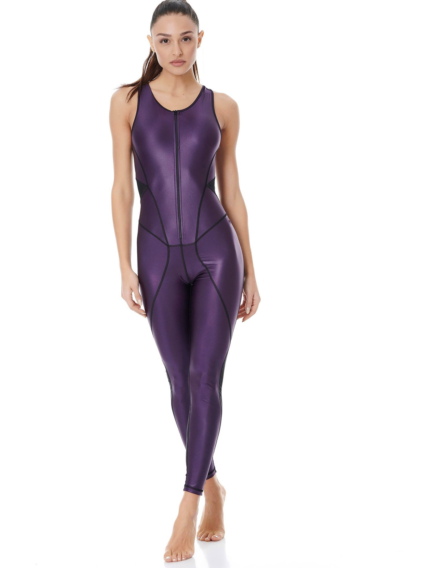 DAZZLE HIGH POWER JUMPSUIT - PURPLE