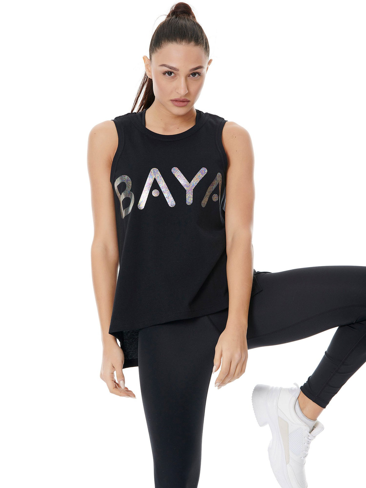 BAYA SIGN SPORT TANK - BLACK