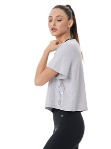 BAYA SIGN CROP TEE - SPORTY GREY