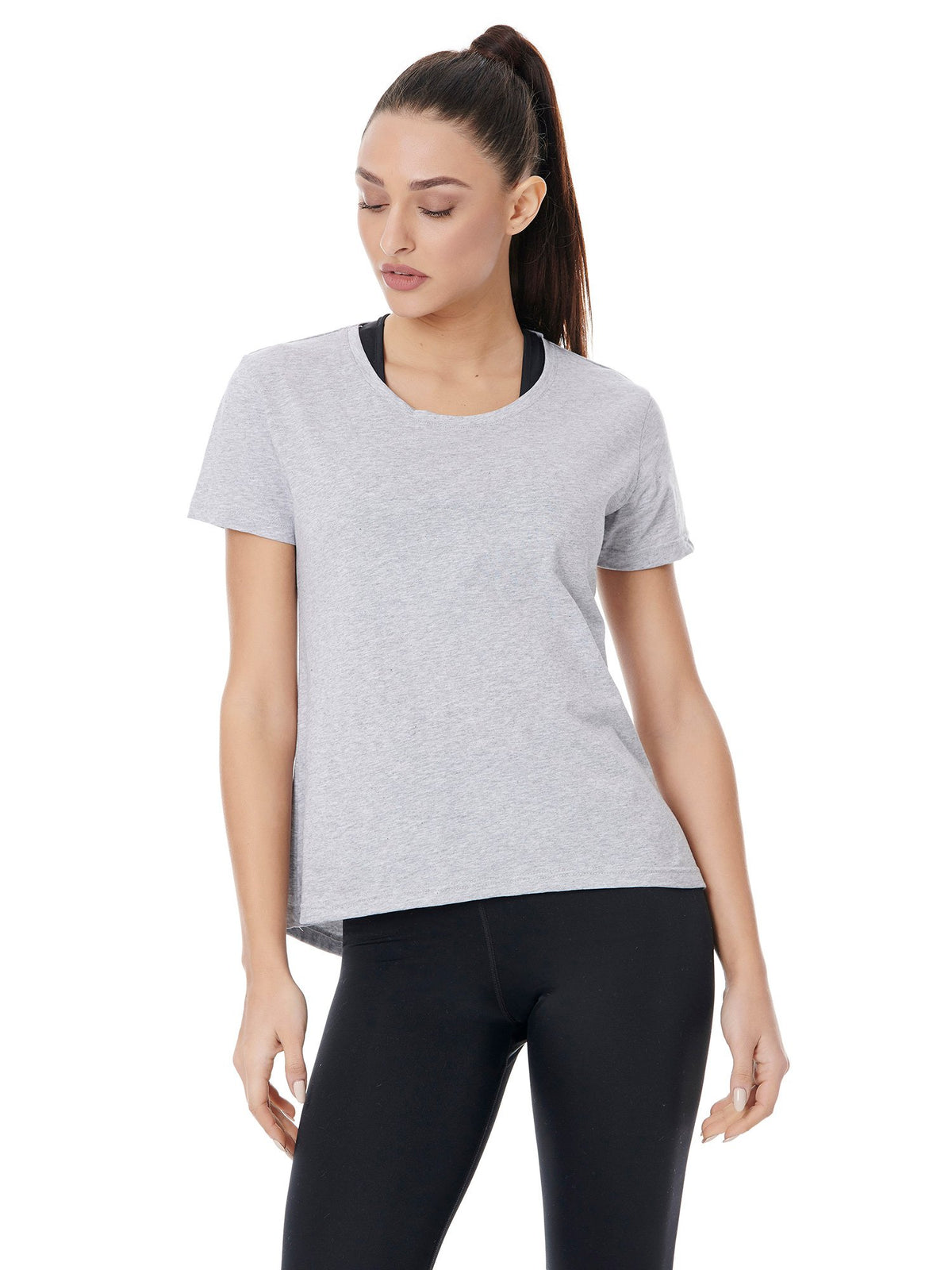 BAYA LOGO TEE - SPORTY GREY