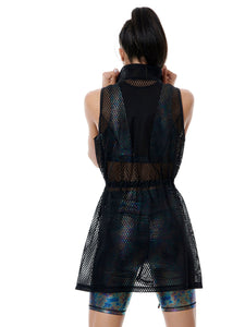 AESTHETE LONG DRESS VEST BLACK