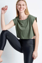 Load image into Gallery viewer, Cropped Top - khaki