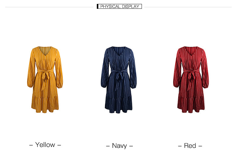Simple striped dress for women_2