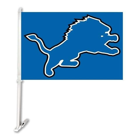 Detroit Lions Double Sided Car Flag Banner Super Bowl Champions 30x45cm Polyester Banner 50cm Plastic Flag Pole Car Products