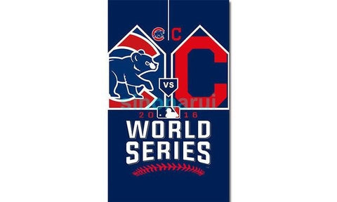 Chicago Cubs Team W Flag 2016 Chicago Baseball Flag Champions Indians Chicago Cubs Banner