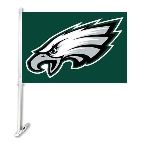 Philadelphia Eagle Double Sided Car Product Car Flag Banner Super Bowl Champions 30x45cm Polyester Banner 50cm Plastic Flag Pole