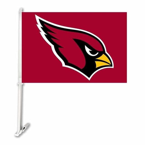 Arizona Cardina Car Flag Banner Super Bowl Champions 30x45cm Polyester Double Sided Banner 50cm Plastic Flag Pole
