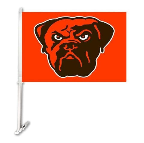 Cleveland Browns Double Sided Car Flag Banner Super Bowl Champions 30x45cm Polyester Banner 50cm Plastic Flag Pole Car Products