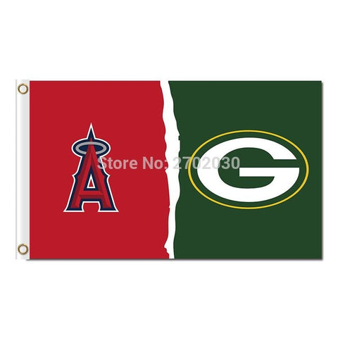 Los Angeles Angels Of Anaheim Flag Green Bay Packers Banner World Series Champions Baseball Cub Fan Team Flags 90x150cm Banners