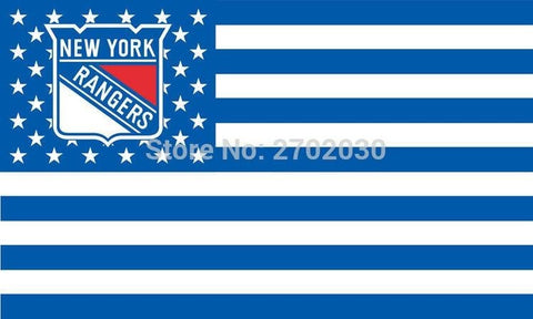 New York Rangers Hockey Sports Team Star & Stripe US National Flag 3ft X 5ft Custom Banner With Sleeve Two Gromets 90*150CM