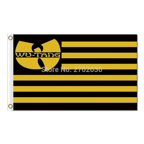 Wu-Tang Clan Flag 1992 Banner Super Fan HIP-HOP 3x5 FT Motor Banner Car 100D Polyester Wu Tang Flag Brass Grommets