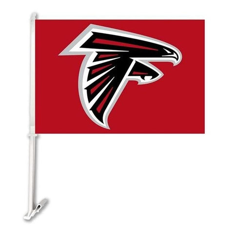Atlanta Falcons  Double Sided Car Flag Banner Super Bowl Champions 30x45cm Polyester Banner 50cm Plastic Flag Pole