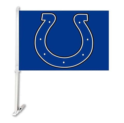 Indianapolis Colts Double Sided Car Flag Banner Super Bowl Champions 30x45cm Polyester Banner 50cm Plastic Flag Pole Car Product