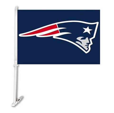 New England Patrio Double Sided Car Product Car Flag Banner Super Bowl Champions 30x45cm Polyester Banner 50cm Plastic Flag Pole