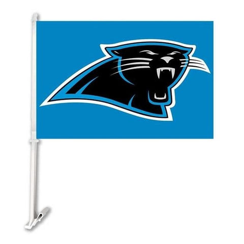 Carolina Panthers Double Sided Car Flag Banner Super Bowl Champions 30x45cm Polyester Banner 50cm Plastic Flag Pole Car Products