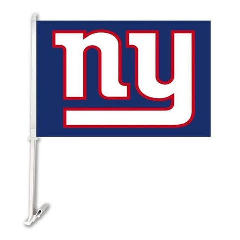 New York Giants  Double Sided Car Product Car Flag Banner Super Bowl Champions 30x45cm Polyester Banner 50cm Plastic Flag Pole