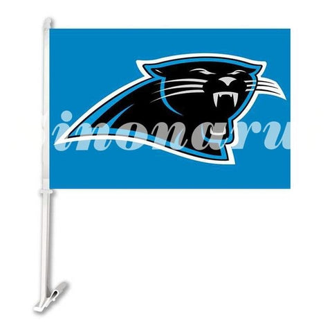 Carolina Panthers Sports Team Helmet Car Flag Double Sided  Banners 29*45CM With Sleeve The Pole