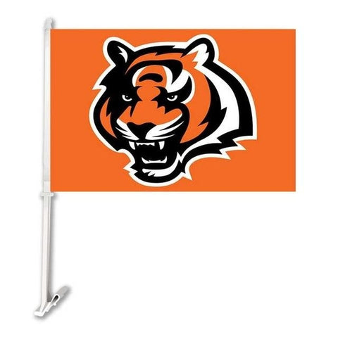 Cincinnati Bengal Double Sided Car Flag Banner Super Bowl Champions 30x45cm Polyester Banner 50cm Plastic Flag Pole Car Products