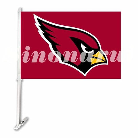 Arizona Cardinals Big Logo Car Flag Double Sided  29*45CM