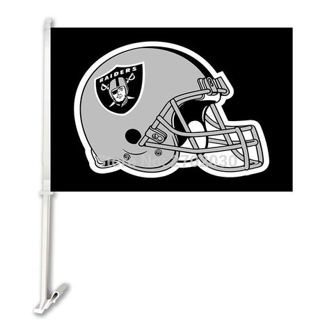 Oakland Raiders Helmet Banner Car Flag Black World Series Football Helmet Flag Super Bowl Double Sided Oakland Raiders Banner