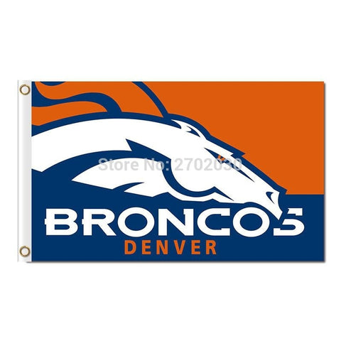 Design Denver Broncos Flag Banner Custom Super Bowl Champions Fan 90x150cm Polyester Banner With 2 Metal Grommets Broncos Banner