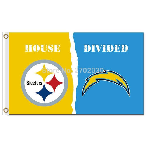 Pittsburgh Steelers Banner Vs San Diego Chargers Flag World Series Football Team 3ft X 5ft Steelers And Chargers Banner Flag