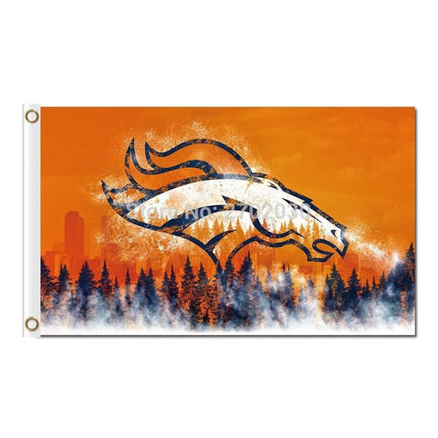 Denver Broncos Flag Design World Series Football Team Super Bowl Champions 3ft X 5ft Denver Broncos Flag Banner