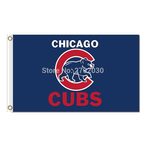 Chicago Cubs Blue White Stars Stripes Indoor Outdoor Flag US Flag 2016 Chicago Cubs World Series Champion Flag Cub